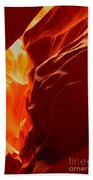 Antelope Textures And Flames Bath Towel