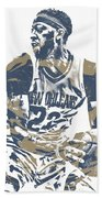 Anthony Davis New Orleans Pelicans Pixel Art 21 Bath Towel