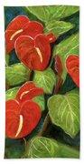 Anthurium Flowers #231 Bath Towel