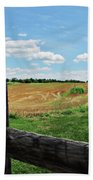 Antietam Farm Fence 2 Bath Towel