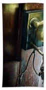 Antique Brass Doorknob Bath Towel
