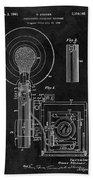 Antique Camera Flash Patent Bath Towel