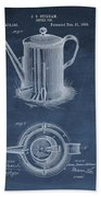 Antique Coffee Pot Patent Bath Towel