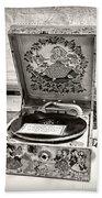Antique Decca Gramophone By Kaye Menner Bath Towel