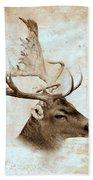Antique Deer Bath Towel