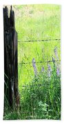 Antique Fence Post Bath Towel