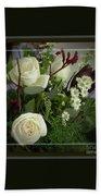 Antique Floral Arrangement Framed Hand Towel