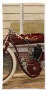 Antique Indian Motorcycle Red...   # Bath Towel