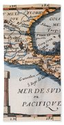 Antique Map Of Mexico Or New Spain Hand Towel by French School
