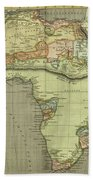 Antique Maps - Old Cartographic Maps - Antique Map Of Africa Bath Towel