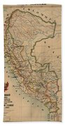 Antique Maps - Old Cartographic Maps - Antique Map Of Peru, South America, 1913 Bath Towel