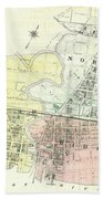 Antique Maps - Old Cartographic Maps - Antique Map Of The City Of Chester, England, 1870 Bath Towel
