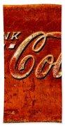 Antique Soda Cooler 3 Bath Towel