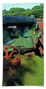 Antique Tractor 3 Bath Towel