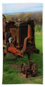 Antique Tractor Bath Towel