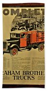 Antique Truck Poster Bath Towel
