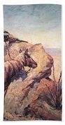 Apache Ambush Bath Towel by Frederic Remington