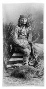 Apache Leader, 1885 Bath Towel