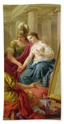 Apelles In Love With The Mistress Of Alexander Bath Towel