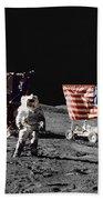 Apollo 17 Astronaut Stands Bath Towel