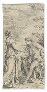 Apollo And The Cumaean Sibyl Bath Towel