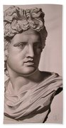Apollo Bust Drawing Bath Towel