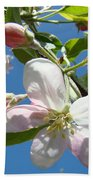 Apple Blossoms Art Prints Blue Sky Spring Baslee Troutman Bath Towel