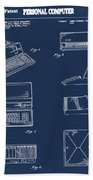 Apple Macintosh Patent 1983 Blue Bath Towel