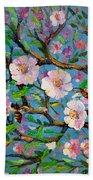 Apple Tree Blossom Bath Towel