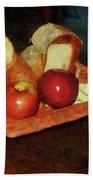 Apples And Bread Bath Towel