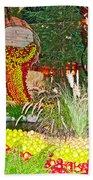 Apples In Autumn In Bellagio Conservatory In Las Vegas- Nevada Bath Towel
