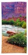 Approaching Navajo Falls Bath Towel