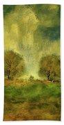 Approaching Storm At Antietam Bath Sheet by Lois Bryan