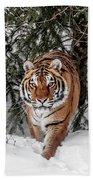 Approaching Tiger Bath Towel