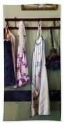Aprons And Feather Duster Bath Towel