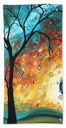 Aqua Burn By Madart Bath Towel
