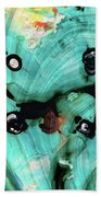 Aqua Teal Art - Volley - Sharon Cummings Bath Towel