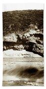 Arch Rock, Santa Cruz, California Circa 1900 Bath Towel