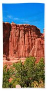 Arches National Park, Utah Usa - Tower Of Babel, Courthouse Tower Bath Towel