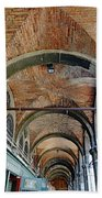 Architectural Ceiling Of The Building Owned By The Rialto Market In Venice, Italy Bath Towel