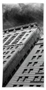 Architecture Tall Buildings Bw Nyc  Bath Towel