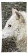Arctic Wolf - On Watch Bath Towel