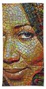 Aretha Franklin Tribute Mosaic Portrait 2 Bath Towel