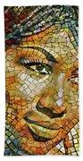 Aretha Franklin Tribute Mosaic Portrait 3 Bath Towel