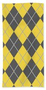 Argyle Diamond With Crisscross Lines In Pewter Gray T05-p0126 Bath Towel