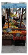 Arica Chile Fruit Stand Bath Towel