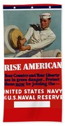 Arise Americans Join The Navy  Hand Towel