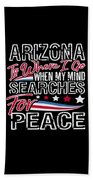Arizona American Patriotic Memorial Day Bath Towel
