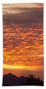 Arizona November Sunrise With Saguaro   Bath Towel