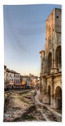 Arles Streets And Arena Bath Towel